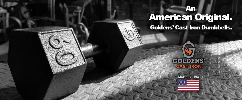 Goldens Cast Iron Dumbbells