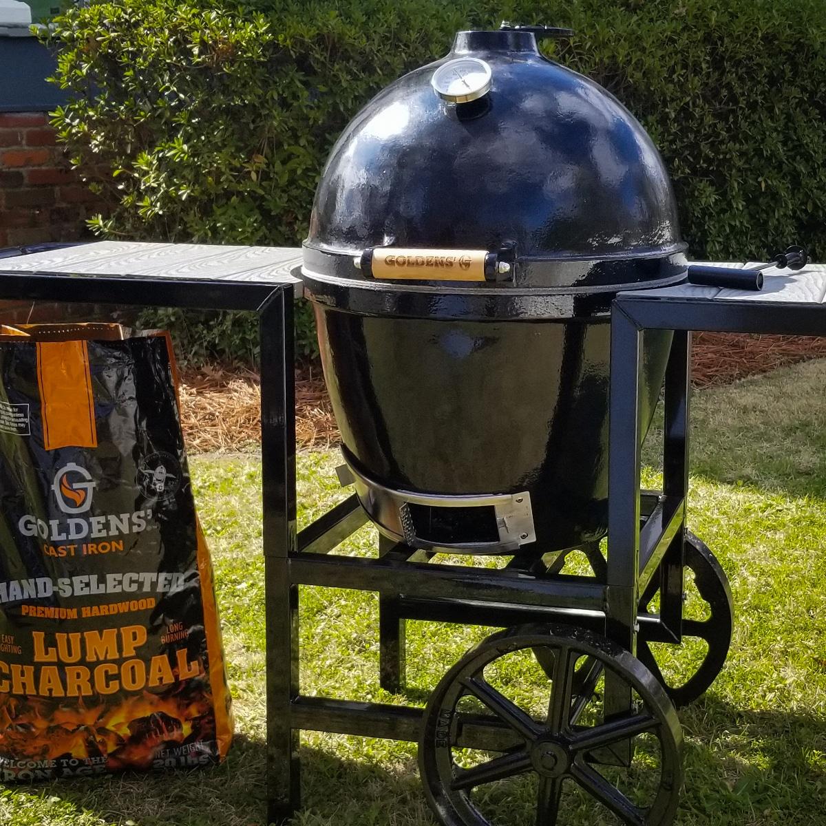 Goldens Cast Iron Grilled Steak Ribeye Kamado Recipe
