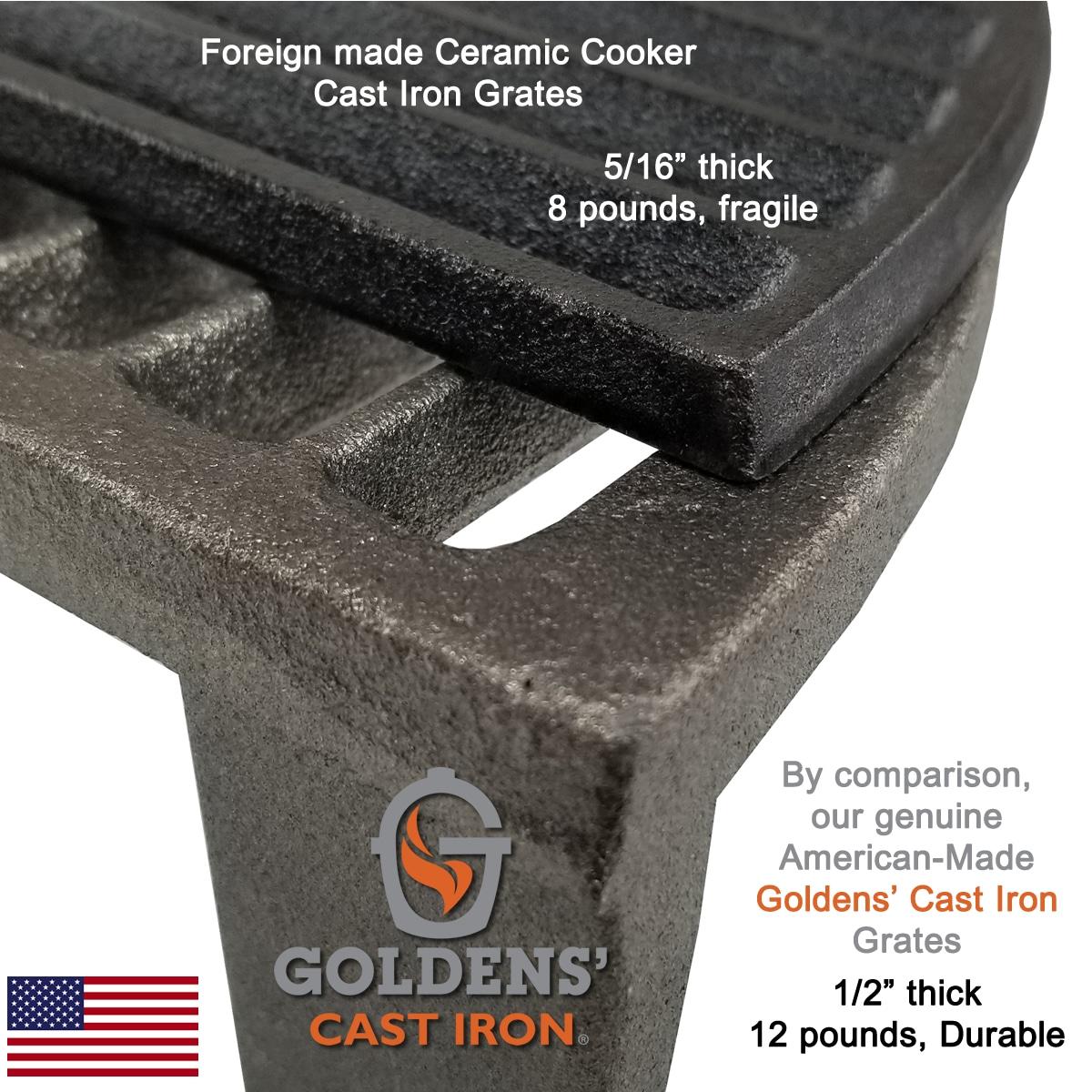 "Goldens' Cast Iron 20.5"" Grates"