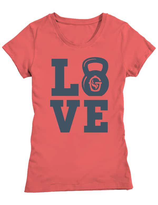 Ladies Love Tee Coral