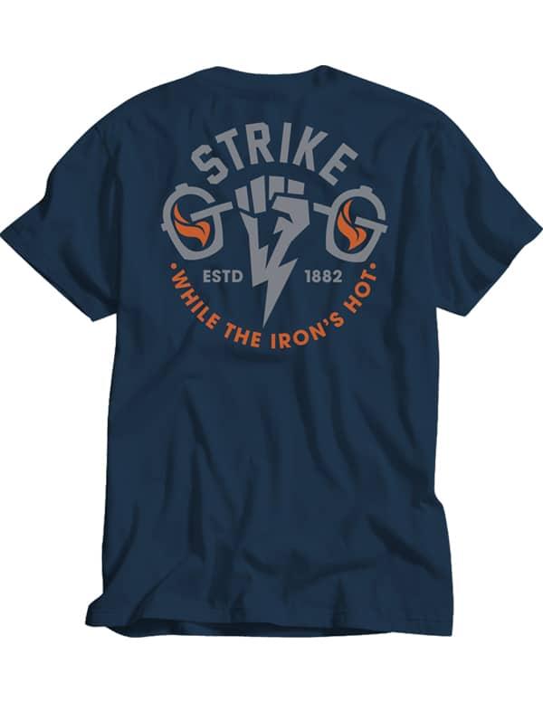 Goldens' Cast Iron Strike Tee Blue